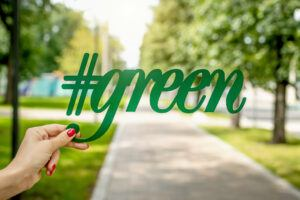 go green hashtag green