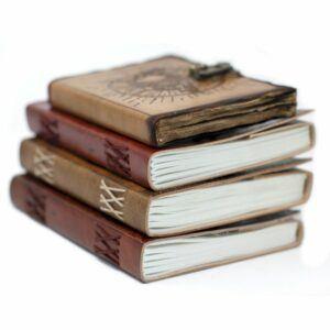 Handmade leather bound notebooks