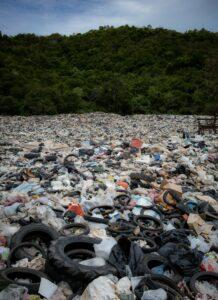 landfill rubbish.