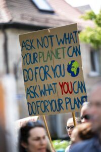 protest march for climate change